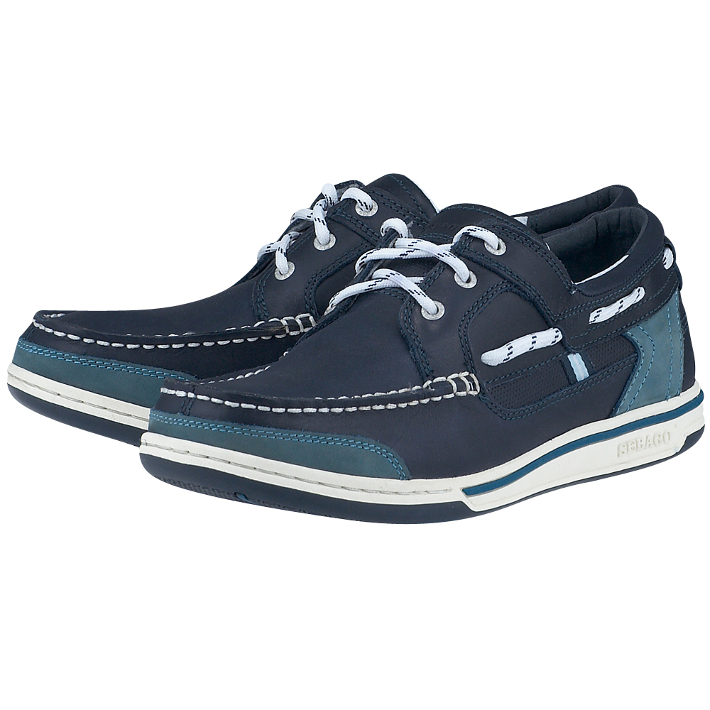 Sebago – Sebago Triton Three-Eye B81023. – ΜΠΛΕ ΣΚΟΥΡΟ