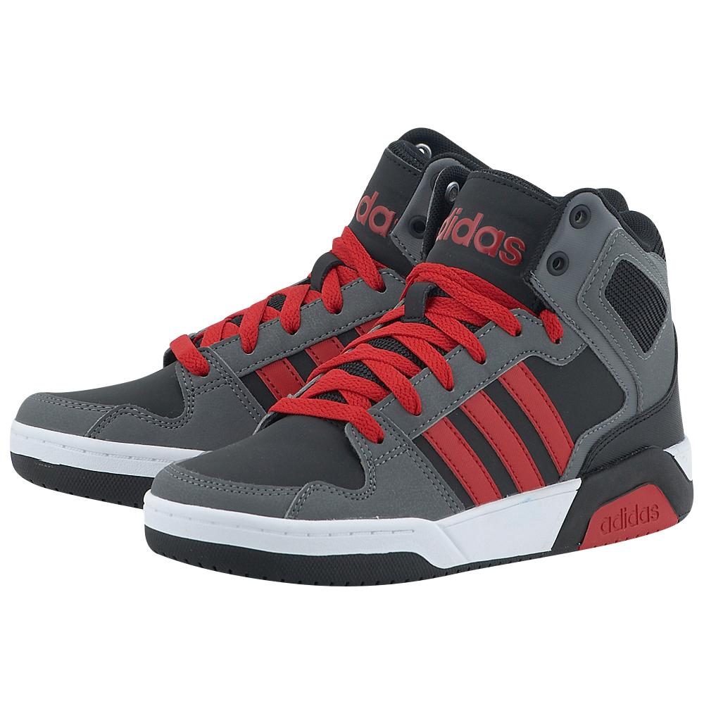 adidas Neo - adidas BB9TIS Mid K BB9957 - ΓΚΡΙ ΣΚΟΥΡΟ