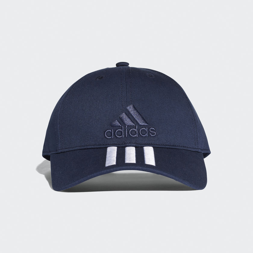 adidas Sport Performance - adidas 6P 3S Cap Cotto BK0808 - ΜΠΛΕ/ΛΕΥΚΟ