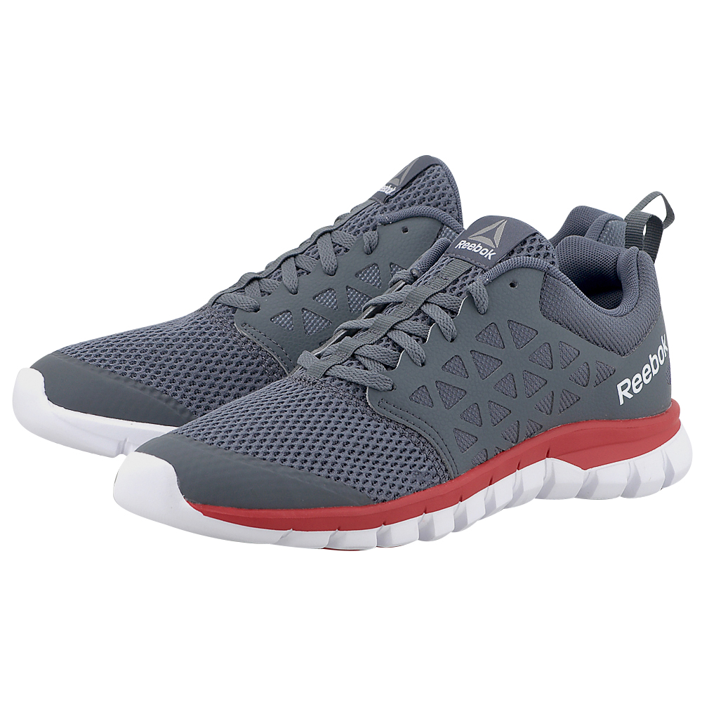 Reebok Sport - Reebok Sublite Xt Cushion 2 Mt BS8703 - ΓΚΡΙ/ΚΟΚΚΙΝΟ