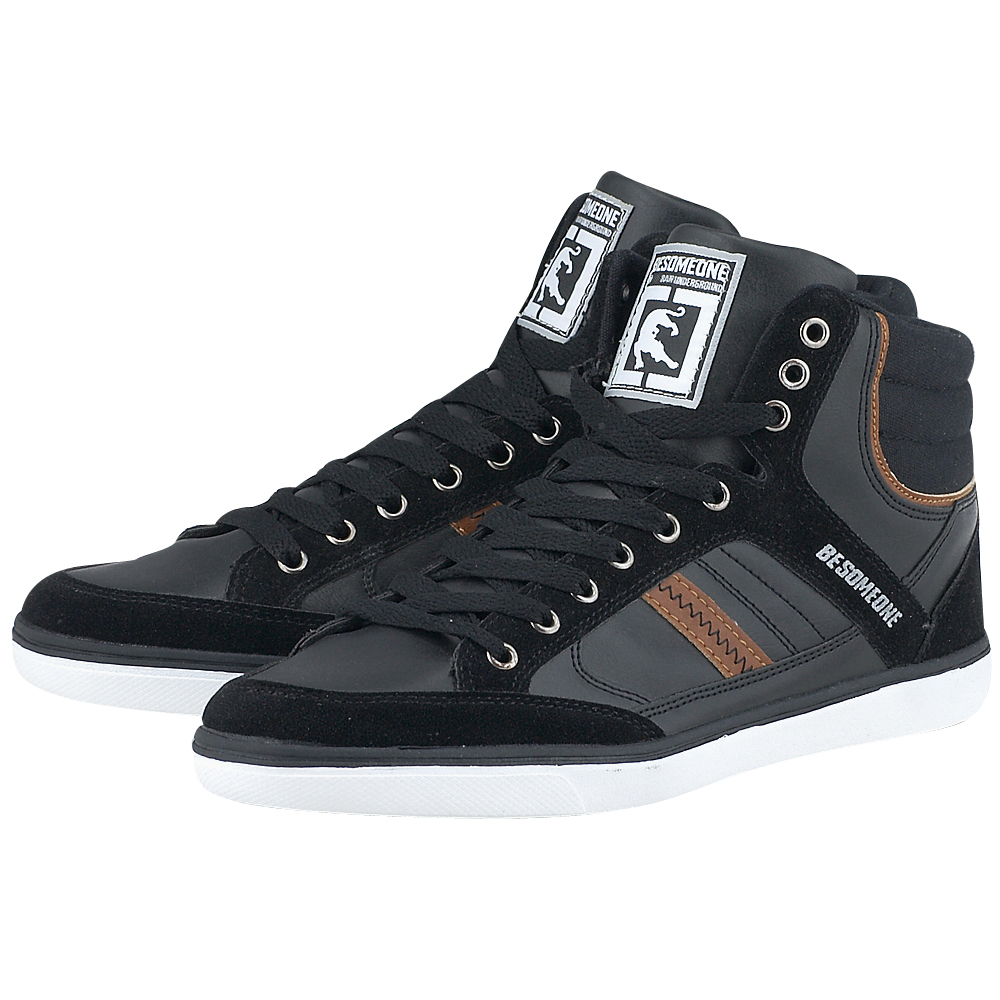 Be Someone - Be Someone C00286 - ΜΑΥΡΟ outlet   ανδρικα   sneakers   mid cut