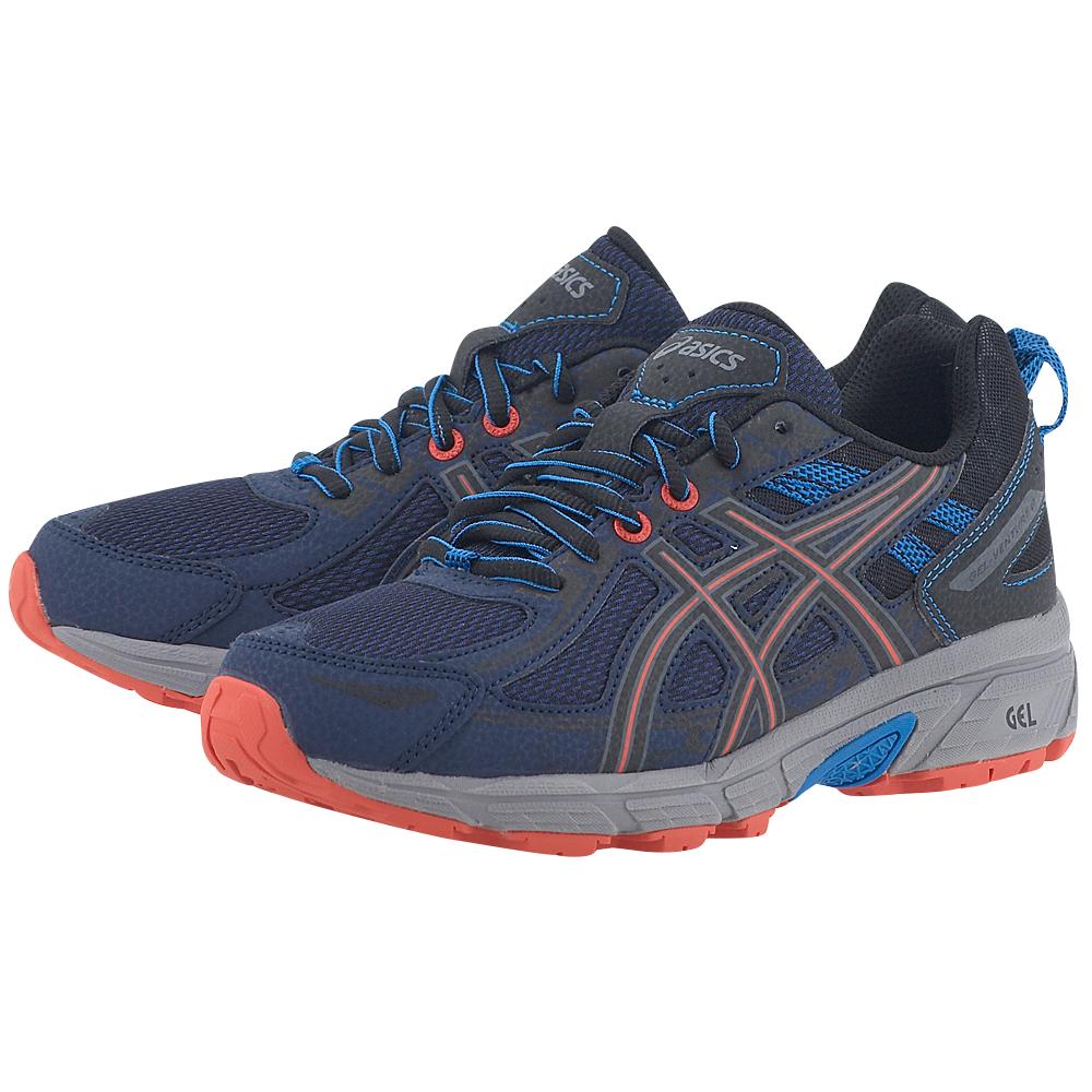 Asics - Asics Gel-Venture 6 GS C744N-4990GS - ΜΠΛΕ ΣΚΟΥΡΟ γυναικεια   αθλητικά   running