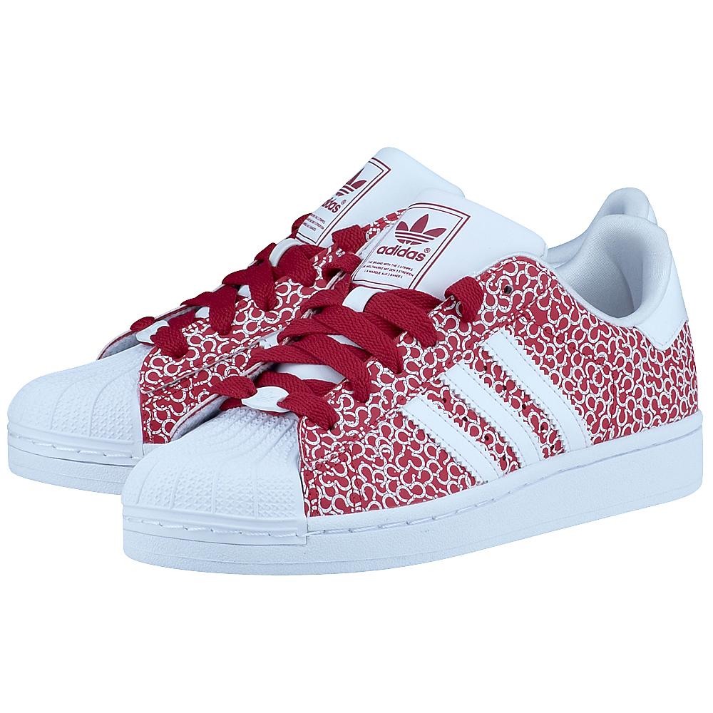 3946690461a adidas Superstar 2 κοκκινο/λευκο D65477-3 | MYSHOE.GR