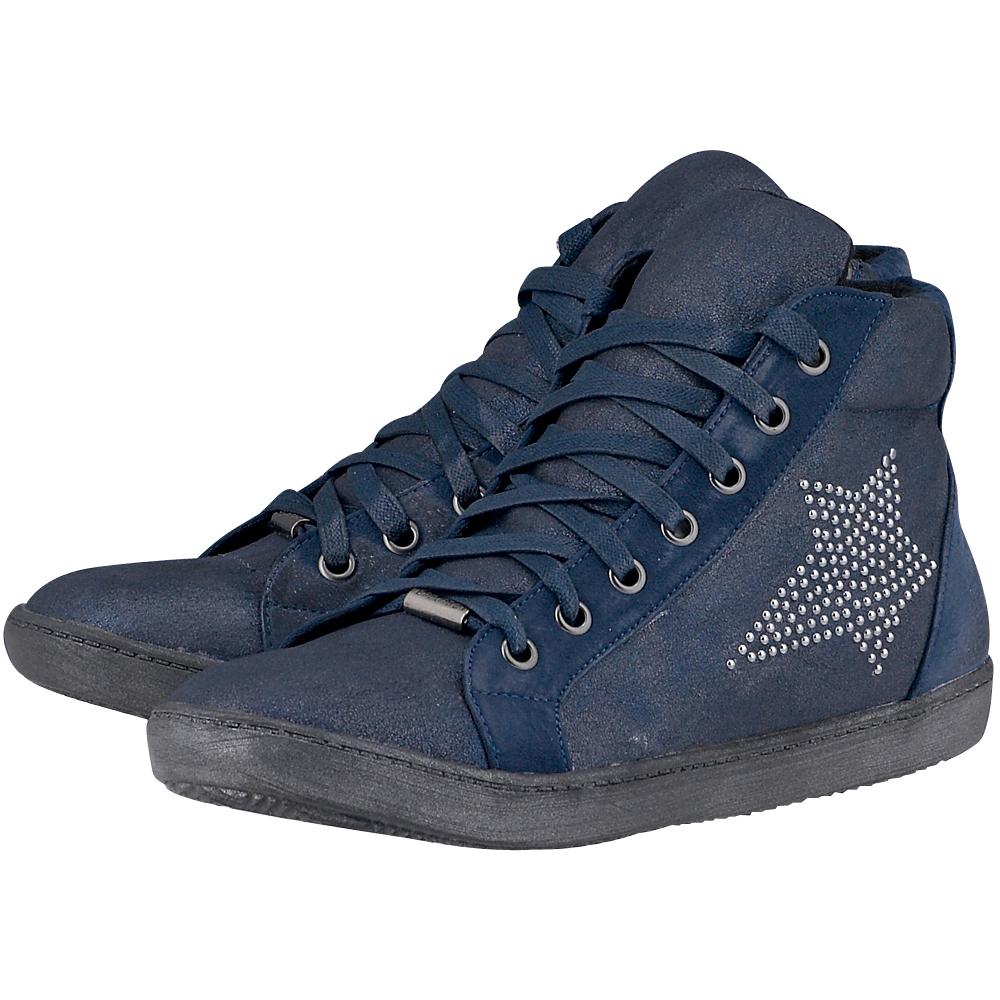 La Strada - La Strada ED733090 - ΜΠΛΕ ΣΚΟΥΡΟ outlet   γυναικεια   sneakers   mid cut