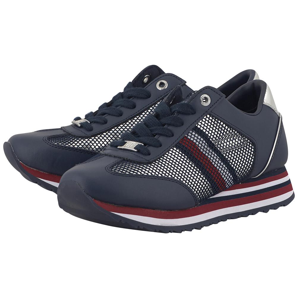 Tommy Hilfiger – Tommy Hilfiger Tommy Corporate Flag Sneaker FW0FW02450-406 – ΜΠΛΕ ΣΚΟΥΡΟ