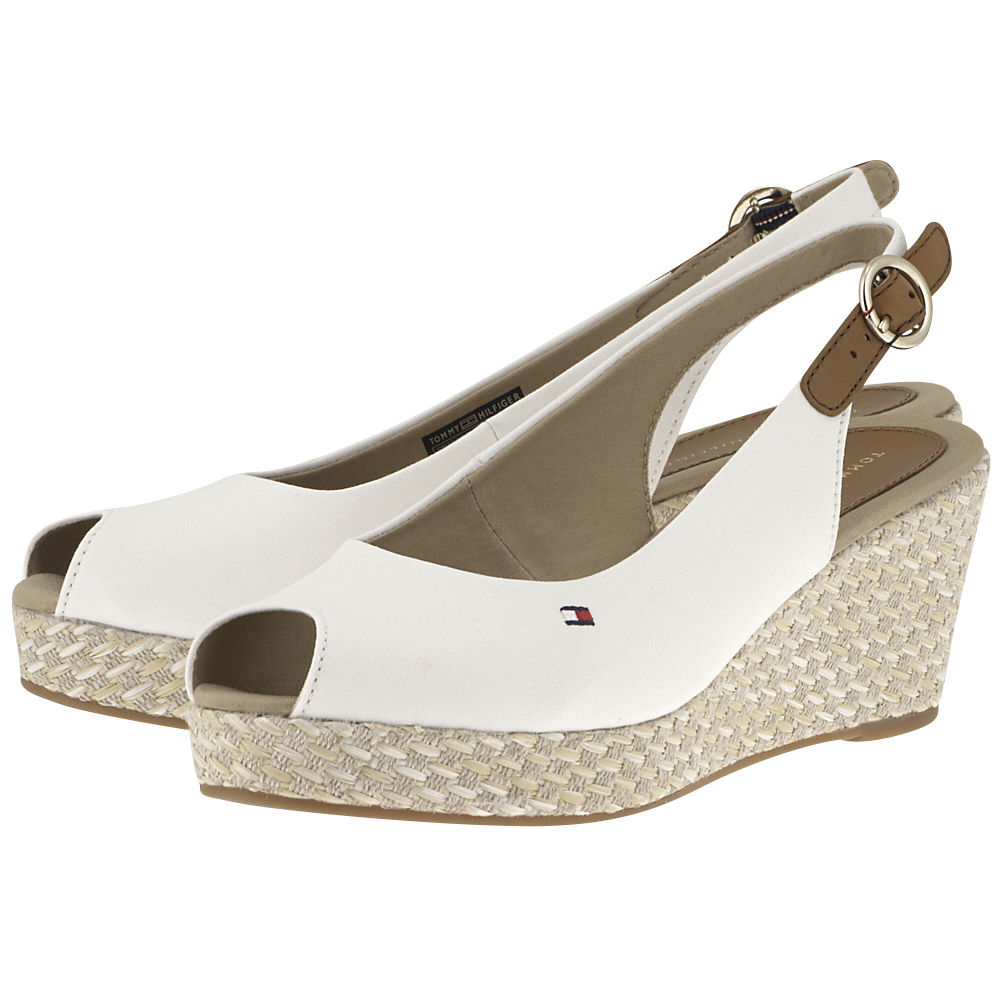 Tommy Hilfiger – Tommy Hilfiger Iconic Elba Basic Sling Back FW0FW02788-121 – ΛΕΥΚΟ