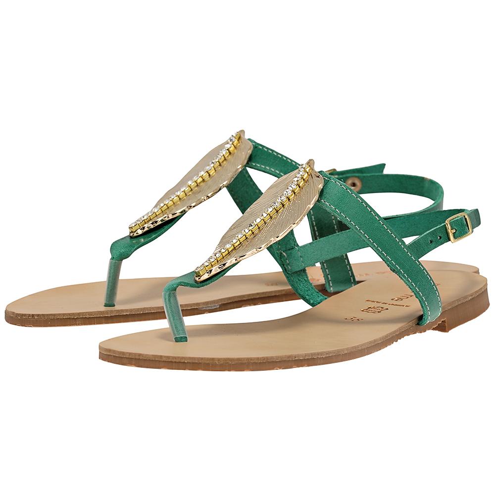 Handmade Sandals by nikki me - Handmade Sandals by nikki me GD81 - ΠΡΑΣΙΝΟ