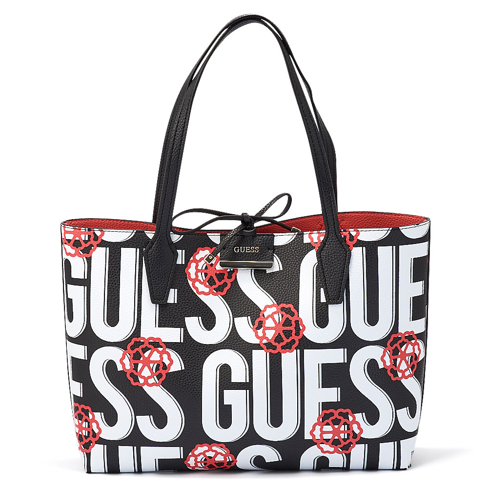Guess - Guess Bobbi Inside Out Tote HWAD64-22150-7147 - μαυρο/λευκο