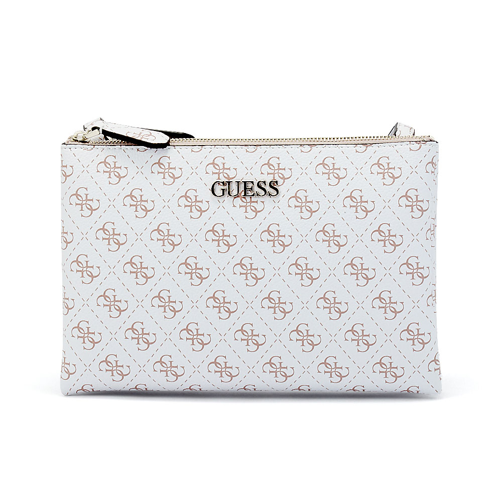 Guess - Guess Maci Mini Double Zip Crossbody HWSG72-95700-91 - λευκο