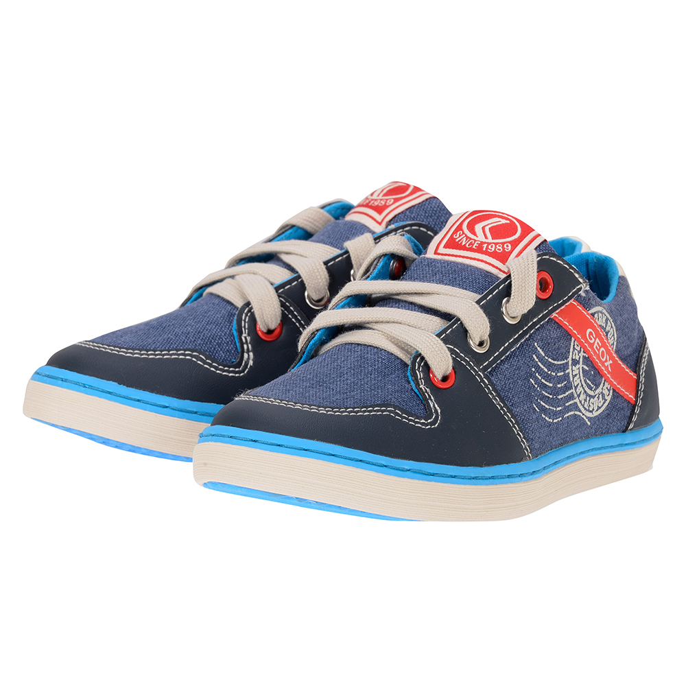 Geox - Geox J42A7F - ΜΠΛΕ outlet   παιδικα   sneakers
