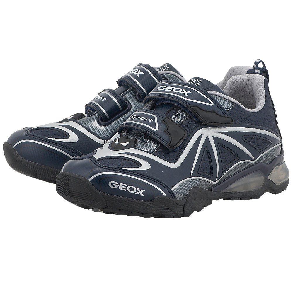 Geox - Geox J641BA - ΜΠΛΕ ΣΚΟΥΡΟ outlet   παιδικα   αθλητικά