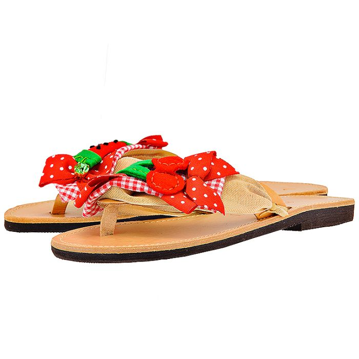 Handmade Sandals by nikki me - Handmade Sandals by nikki me KA64614-57 - ΚΟΚΚΙΝΟ outlet   γυναικεια   σανδάλια