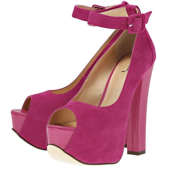 Luichiny - Luichiny L021C49 - ΦΟΥΞΙΑ outlet   γυναικεια   γόβες   peep toe