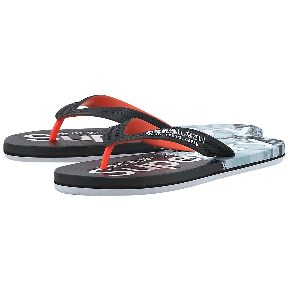 Superdry – Superdry Aop Flip Flop MF3001SOF1 – ΜΑΥΡΟ