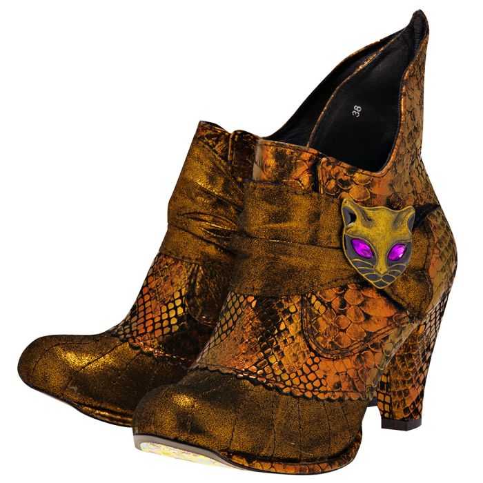 Irregular Choice - Irregular Choice MIAOW.. - ΜΠΡΟΝΖΕ