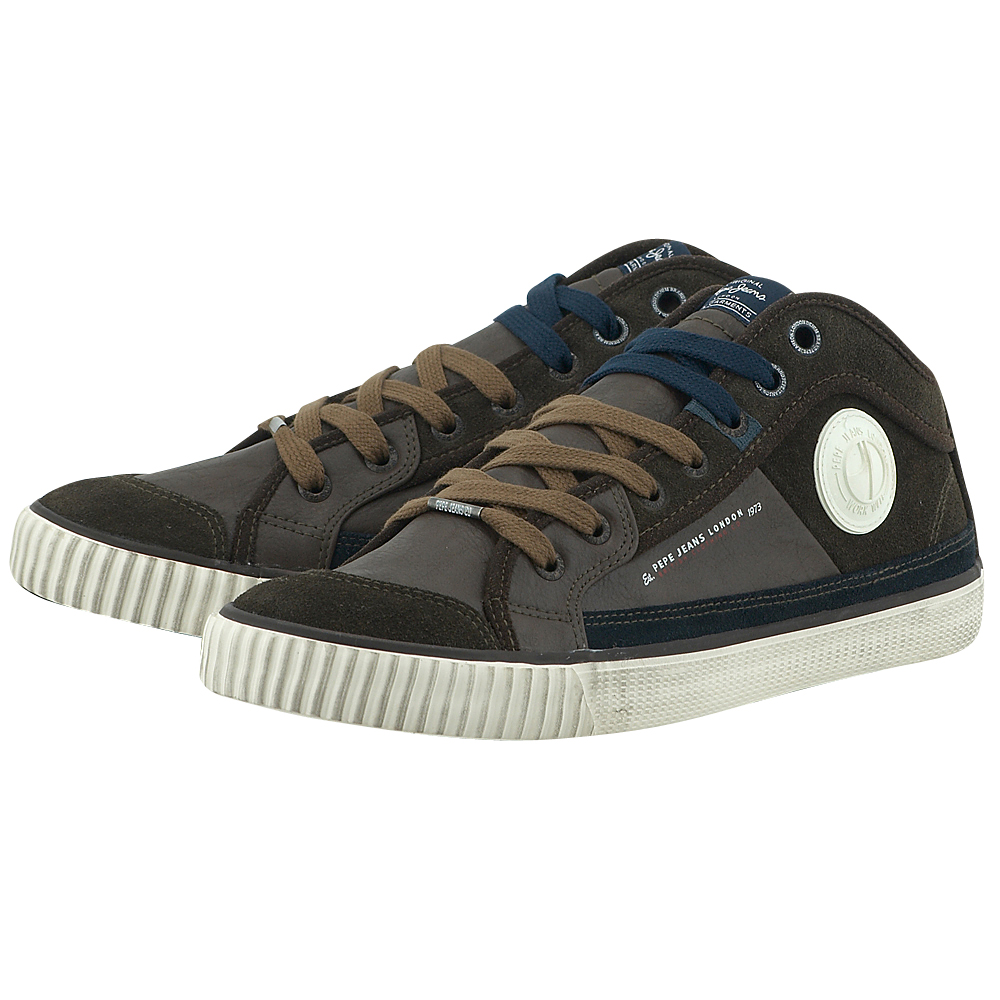 Pepe Jeans – Pepe Jeans Sneaker PMS30190 – ΚΑΦΕ ΣΚΟΥΡΟ