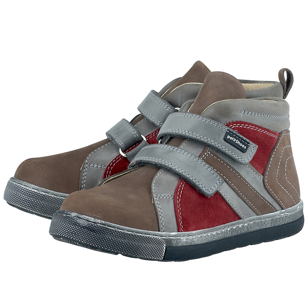 Petit Shoes - Petit Shoes PS-FP17 - ΚΑΦΕ/ΚΟΚΚΙΝΟ
