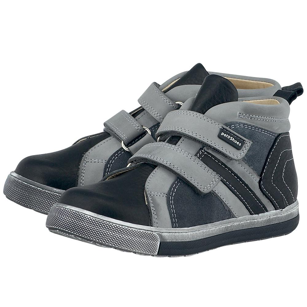 Petit Shoes - Petit Shoes PS-FP17 - ΜΑΥΡΟ/ΓΚΡΙ