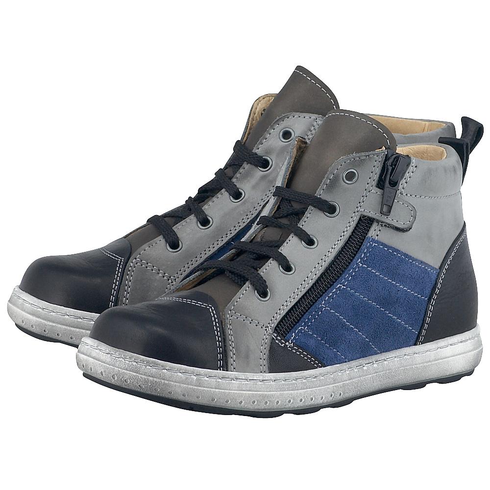 Petit Shoes - Petit Shoes PS-FP71 - ΓΚΡΙ/ΜΑΥΡΟ outlet   παιδικα   μποτάκια