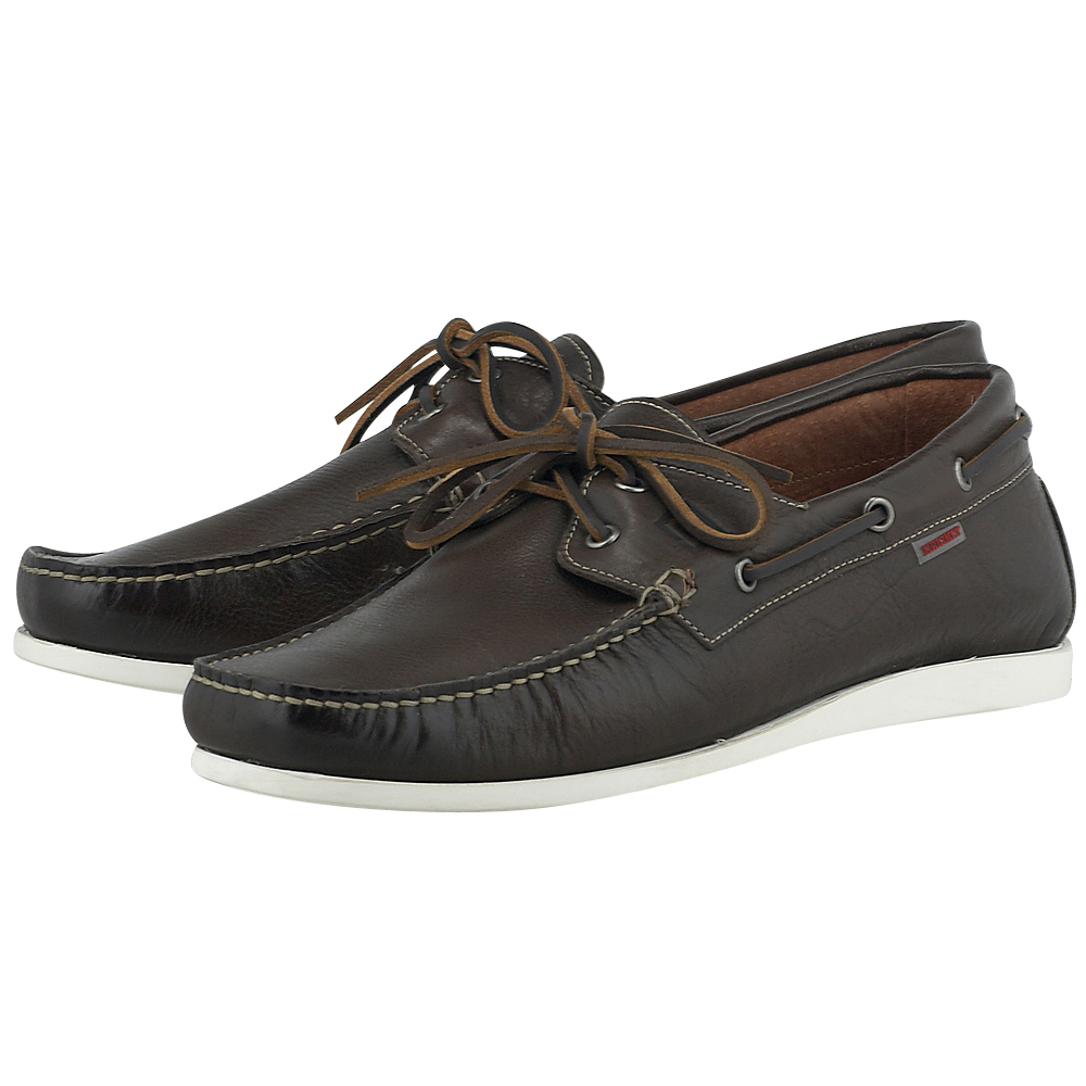 Kricket - Kricket REGAL - ΚΑΦΕ ΣΚΟΥΡΟ outlet   ανδρικα   brogues   loafers   με κορδόνι