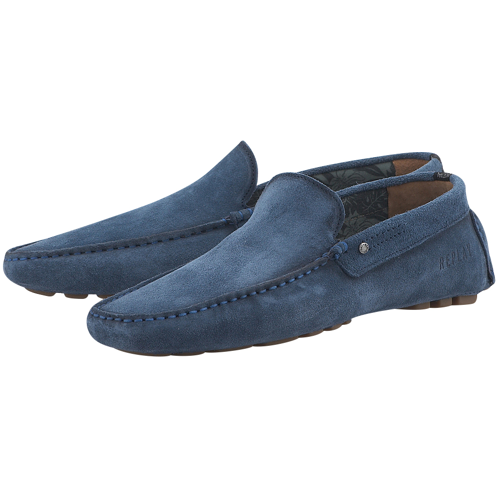 Replay - Replay RM050001L - ΜΠΛΕ outlet   ανδρικα   brogues   loafers   χωρίς κορδόνι