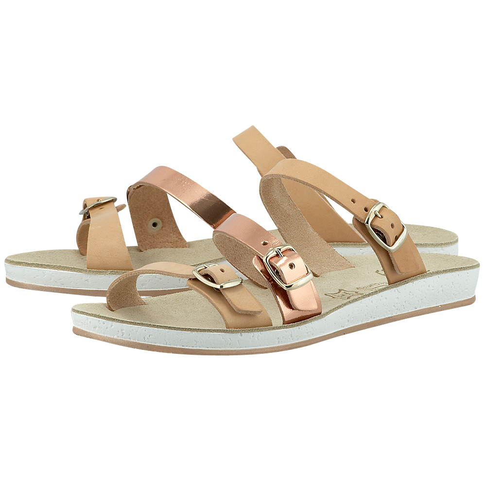 Fantasy Sandals - Fantasy Sandals S-1015 - ΦΥΣΙΚΟ/ΧΑΛΚΙΝΟ γυναικεια   σανδάλια