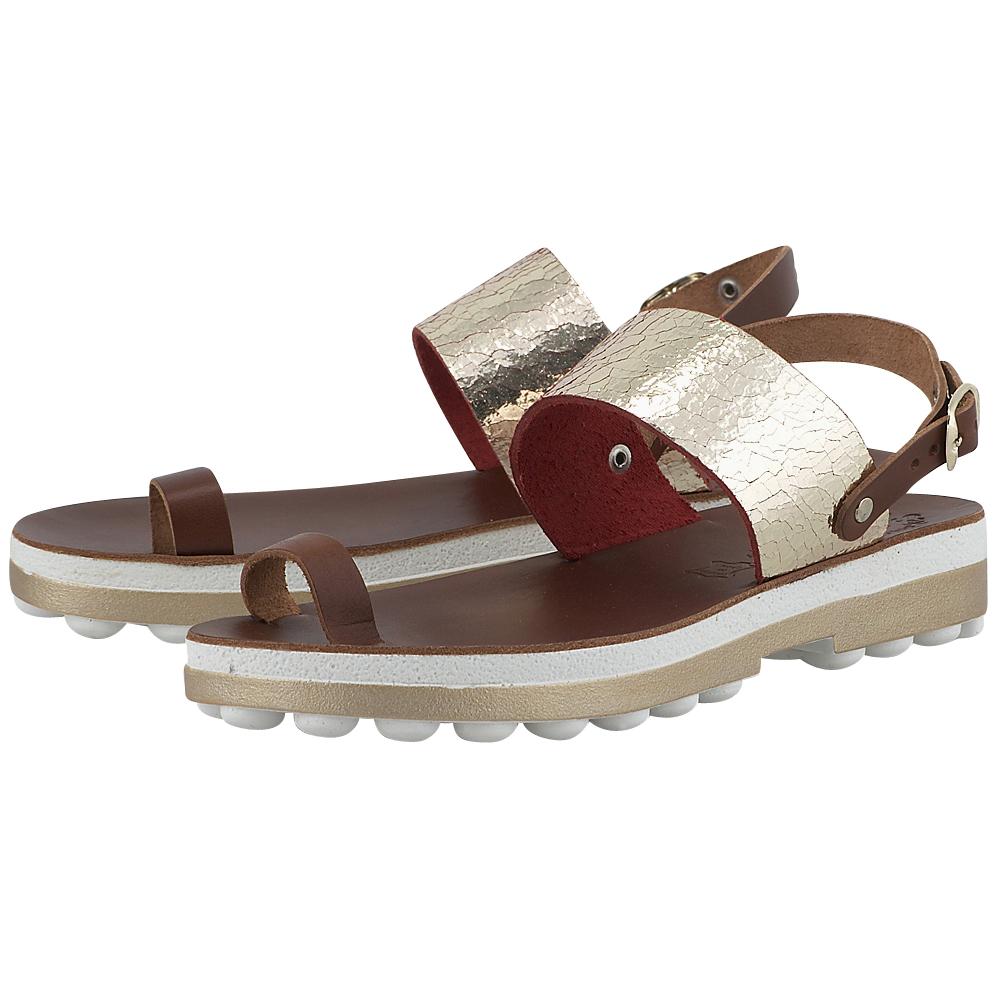 Fantasy Sandals - Fantasy Sandals S-9001 - ΚΑΦΕ/ΧΡΥΣΟ γυναικεια   σανδάλια