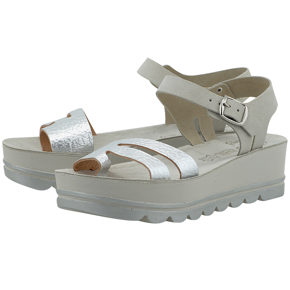 Fantasy Sandals - Fantasy Sandals S6006 - ΑΣΗΜΙ/ΓΚΡΙ
