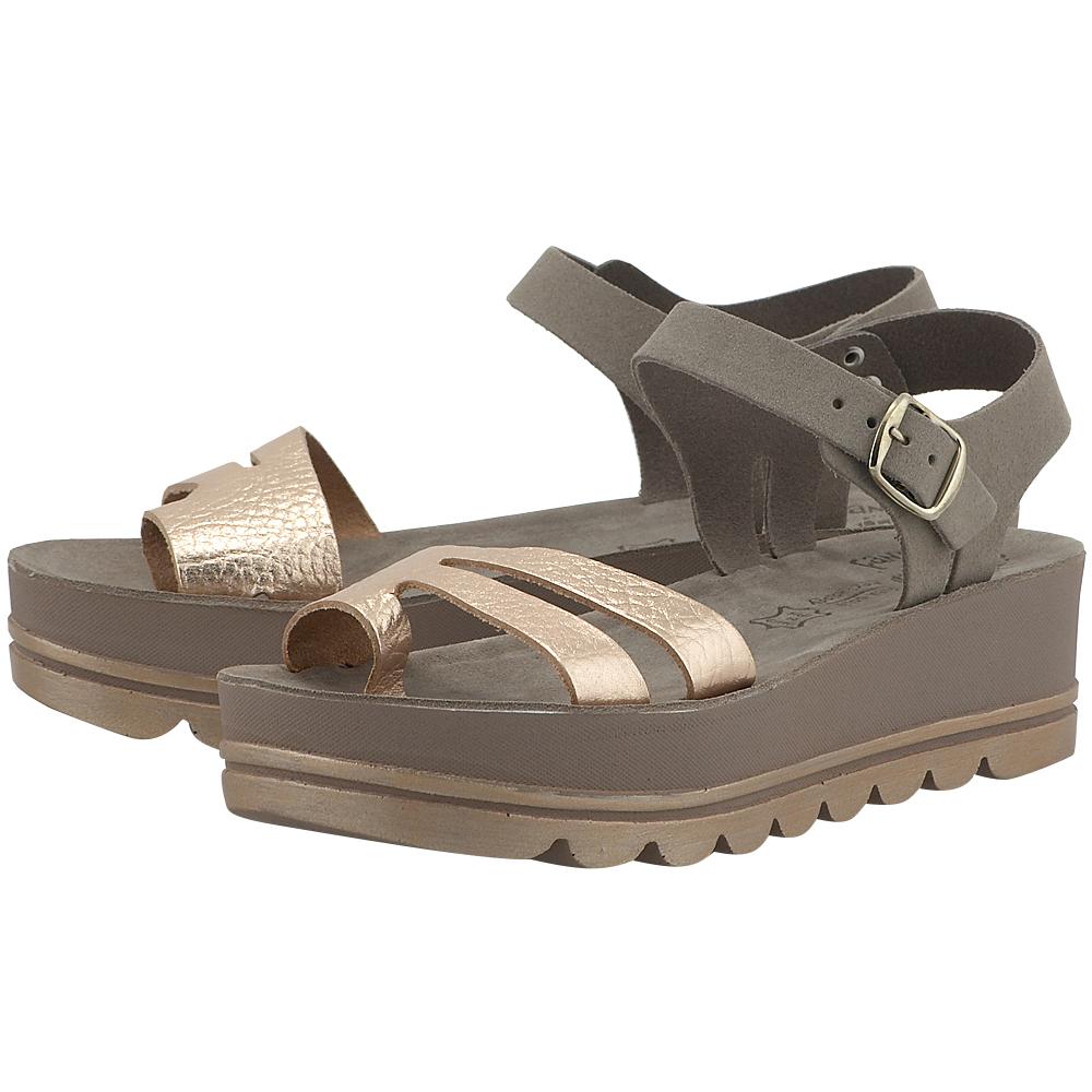 Fantasy Sandals – Fantasy Sandals S6006 – ΧΑΛΚΙΝΟ/ΠΟΥΡΟ