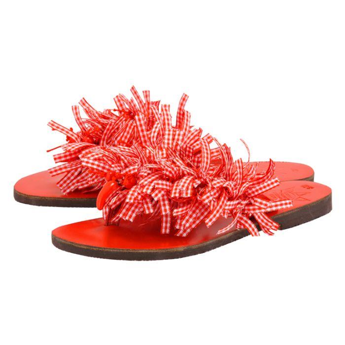 Handmade Sandals by nikki me - Handmade Sandals by nikki me SA163B-3 - ΚΟΚΚΙΝΟ