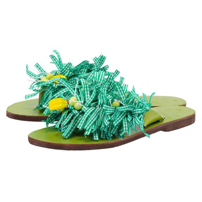 Handmade Sandals by nikki me - Handmade Sandals by nikki me SA163B-3 - ΠΡΑΣΙΝΟ