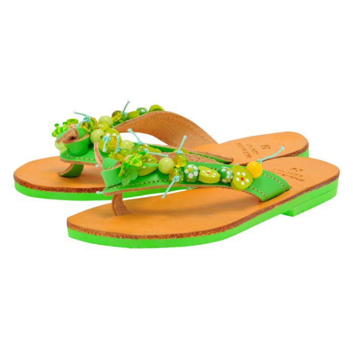 Handmade Sandals by nikki me - Handmade Sandals by nikki me SA222-2 - ΠΡΑΣΙΝΟ
