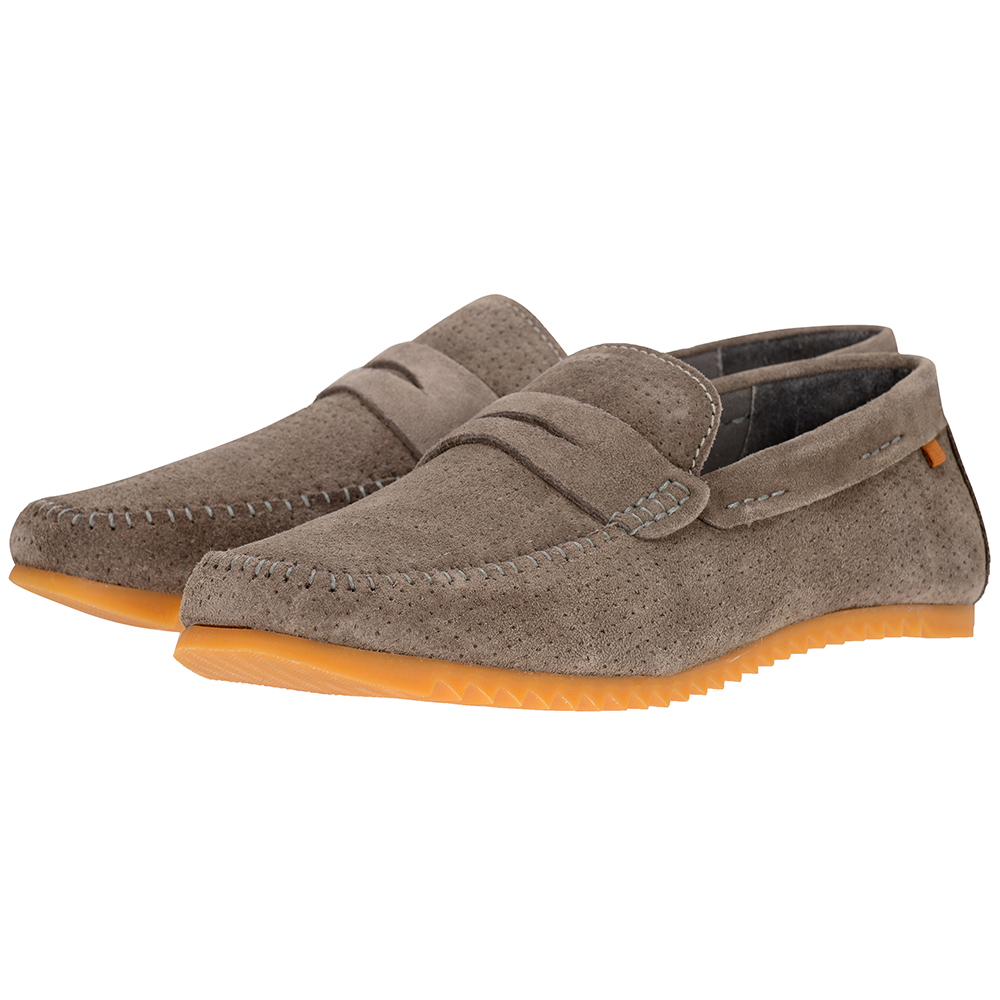 S. Oliver - S. Oliver SOL14602-22 - ΓΚΡΙ outlet   ανδρικα   brogues   loafers   χωρίς κορδόνι