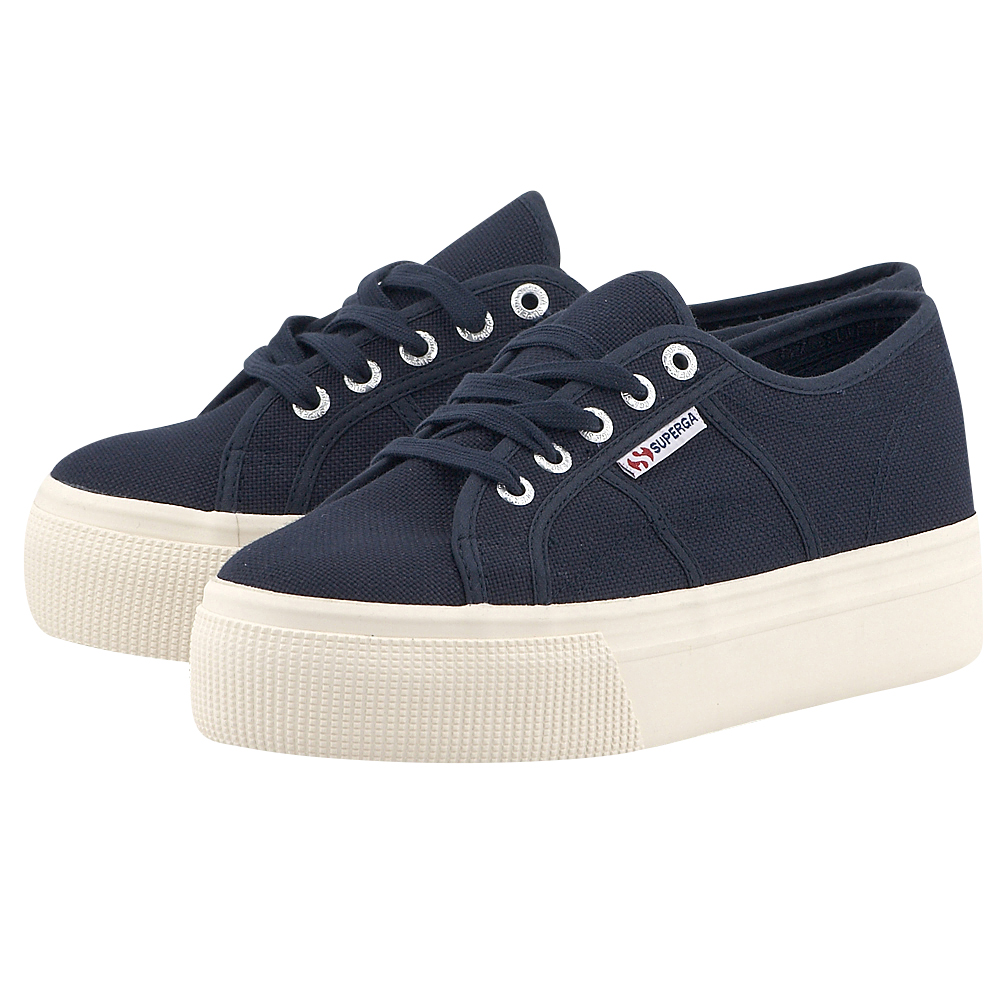Superga - Superga Acotw Linea Up And Down SUP2790-933-3 - ΜΠΛΕ ΣΚΟΥΡΟ