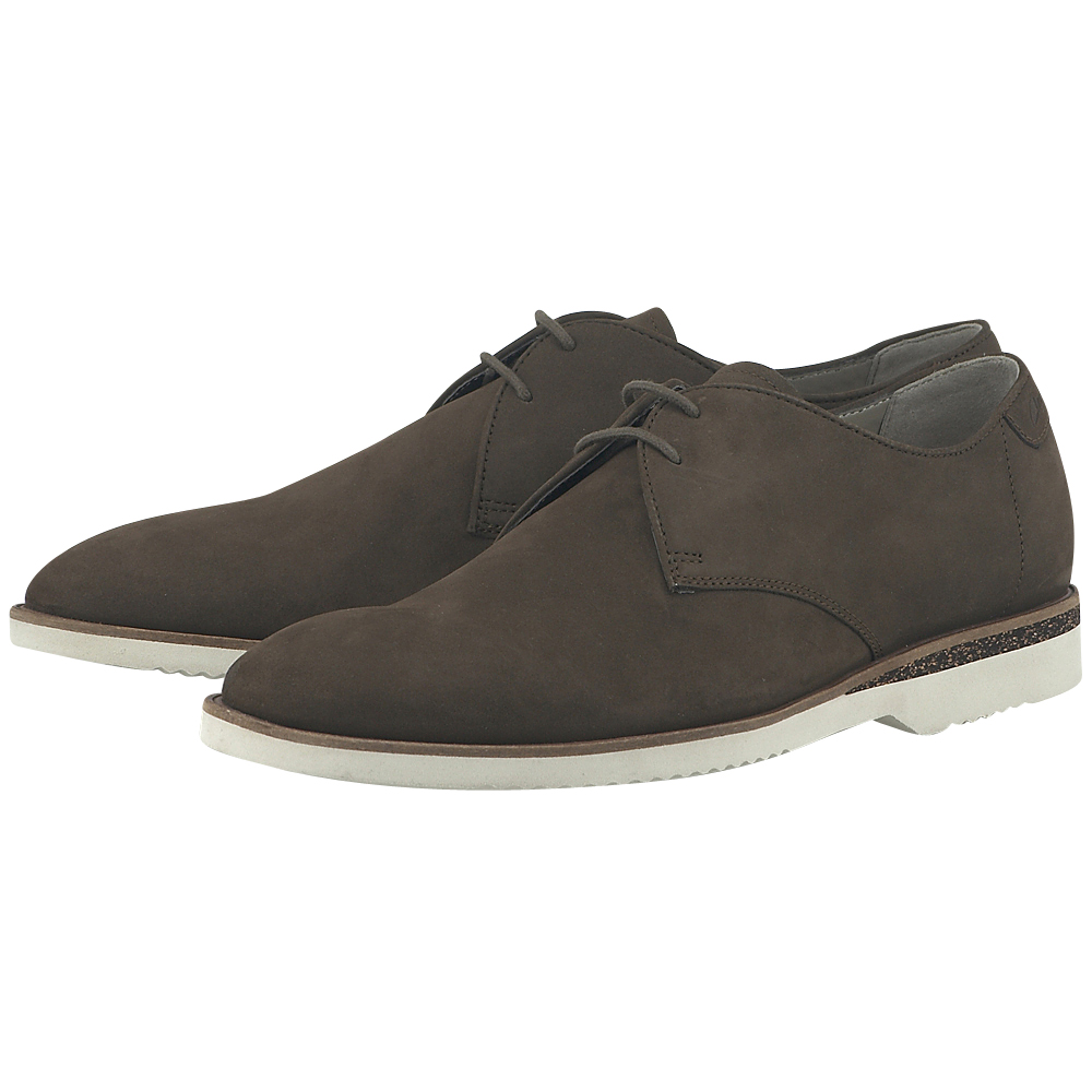 Clarks - Clarks TULIK_FREE - ΚΑΦΕ ΣΚΟΥΡΟ outlet   ανδρικα   loafers   με κορδόνι