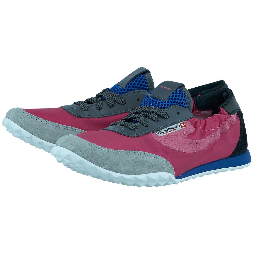 Diesel - Diesel Y01106_P0571_H5631 - ΦΟΥΞΙΑ/ΓΚΡΙ outlet   γυναικεια   sneakers   low cut