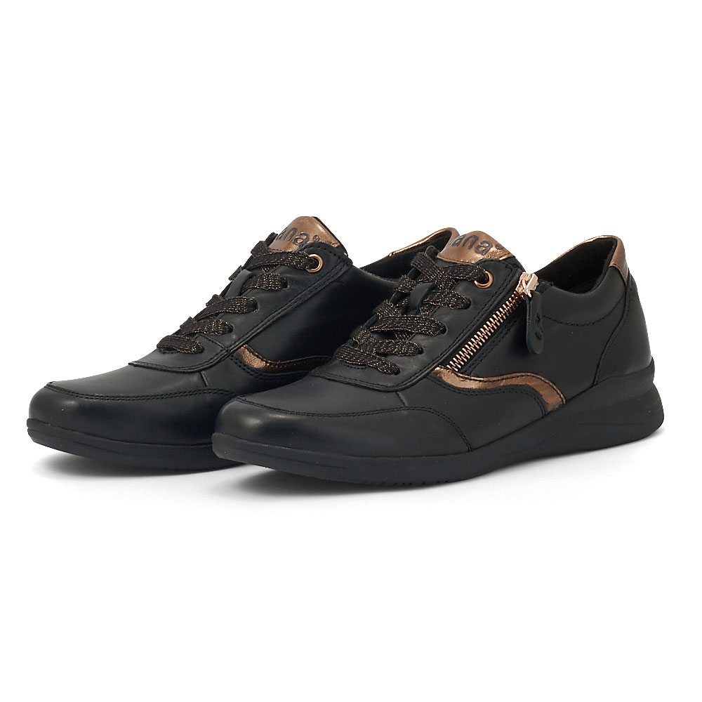 Jana - Brogues & Loafers - BLACK/GOLD