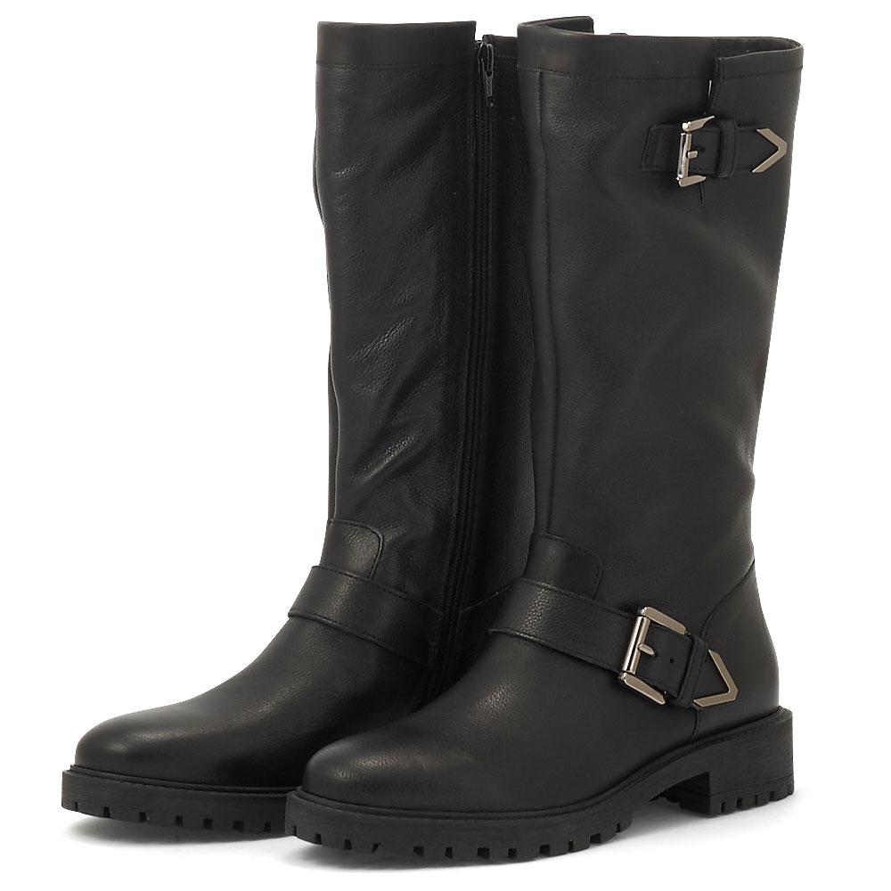 Geox D Hoara F - Μπότες - BLACK