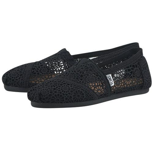Toms Black Moroccan Crochet Wm Alpr Esp - Εσπαντρίγιες - ΜΑΥΡΟ