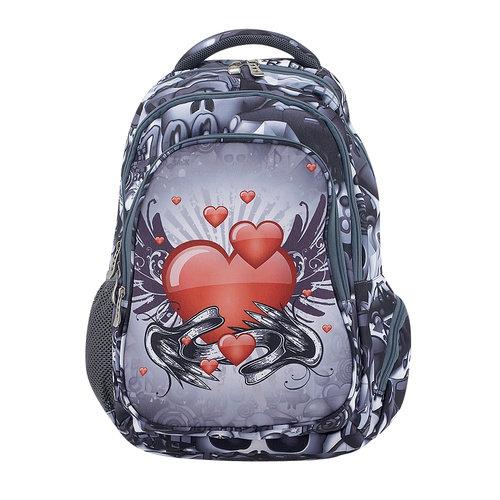 Paxos Emoji Love Tattoo - Σχολικές Τσάντες - ΜΑΥΡΟ