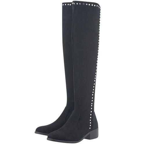 Adam's Shoes - Μπότες - ΜΑΥΡΟ