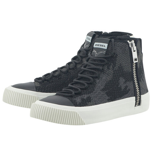 Diesel Zip-Turf S-Quest Knit - Sneakers - ΜΑΥΡΟ