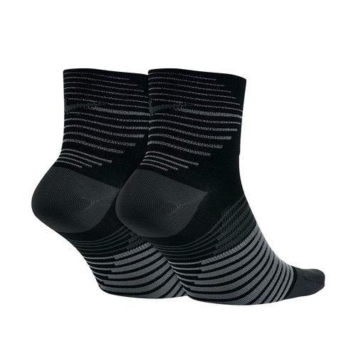 Nike Dri-FIT Lightweight Quarter Running Sock - Κάλτσες - ΜΑΥΡΟ/ΓΚΡΙ