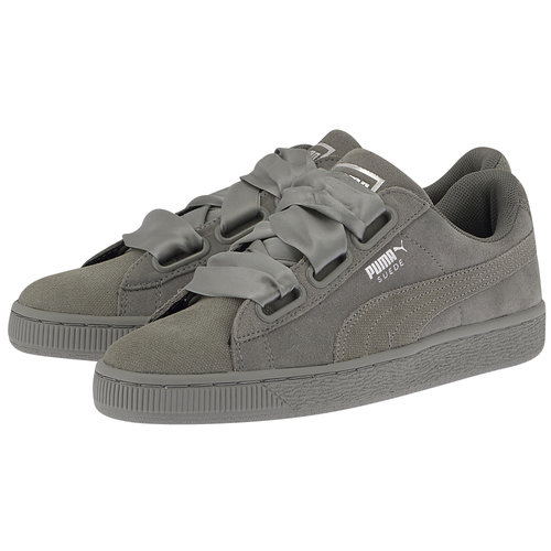Puma Suede Heart Pebble - Sneakers - ΓΚΡΙ