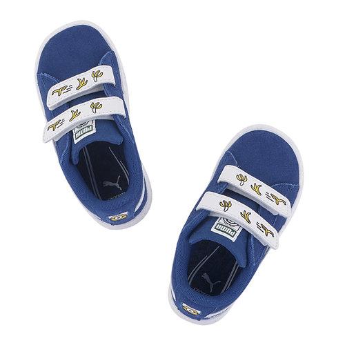 Puma Minions Suede V Inf - Sneakers - ΜΠΛΕ ΣΚΟΥΡΟ