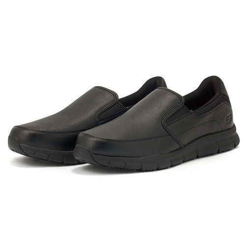 Skechers Nampa - Groton SR - Brogues & Loafers - ΜΑΥΡΟ