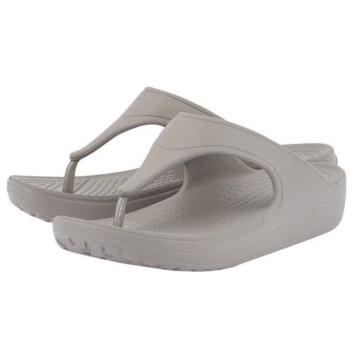 Crocs Crocs Sloane Platform Flip W - Σαγιονάρες - ΓΚΡΙ