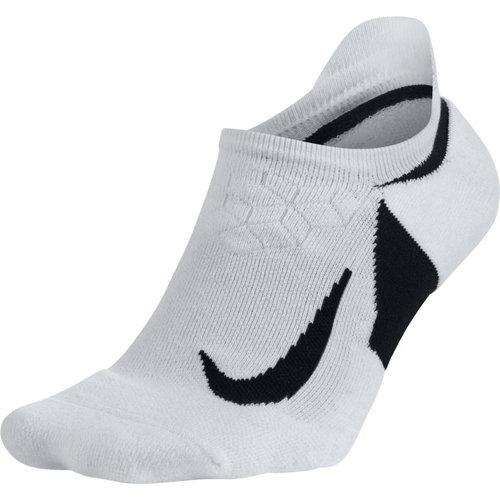 Nike Dry Elite Cushioned No-Show Running - Κάλτσες - ΛΕΥΚΟ/ΜΑΥΡΟ