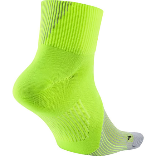Nike Elite Lightweight Quarter Running - Κάλτσες - ΛΑΙΜ/ΓΚΡΙ