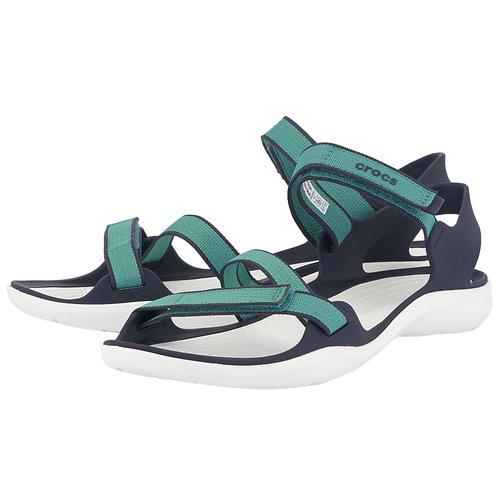 Crocs Swiftwater Webbing Sandal W - Σαγιονάρες - ΠΡΑΣΙΝΟ